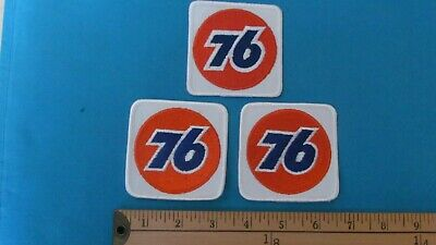 3 Rare Union Unocal 76 Gas Oil Fuel Nascar Racing Nhra Patch Crest Emblem
