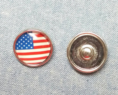 4 American Flag Star Charms Gold Plated Enamel Patriotic E305 NEW1