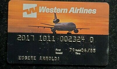 Western Airlines Credit Card exp 1985 ♡Free Shipping♡cc875♡