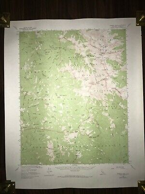 1967 Mineral King Quadrangle California Geological Topographic Rare Vintage Map