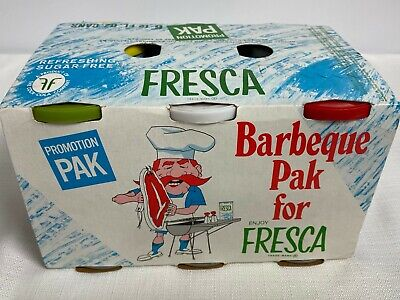 Original 1960s Fresca 6 Pack Barbeque Promotion Pak Advertising Complete 14Items