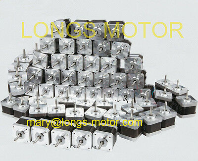 60PCS Nema17 Stepper Motor 4000g.cm 1.7A 40mm 1m cable 2Ph Robot 3D Printer