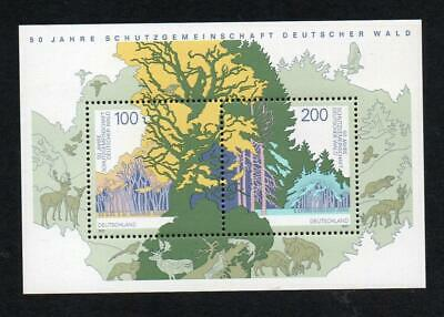 Germany Mnh 1997 Ms2771 50Th Anv Society For Protection Of The German Forest