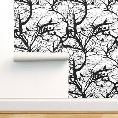 AS CREATION 300941 EMBOSSED TREE BRANCHES WALLPAPER WHITE /& SILVER