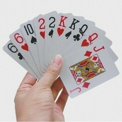 Large Print Playing Cards, Easy to Read, Poker Size
