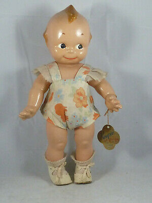Rose O'NEILL - KEWPIE - Massepuppe, Cameo Doll, 32 cm, with tag
