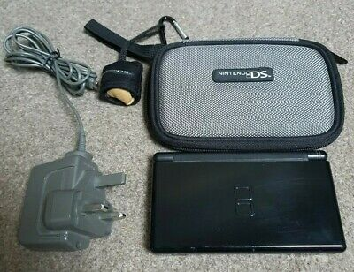 Nintendo DS lite Console Onyx Black. With Original Charger and official case
