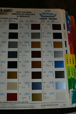 1984-1993 Paint Matching Chips for CARS & TRUCKS by Dupont *~480 Pages*