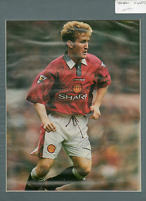 John Curtis Autographed Mounted Photo Manchester Utd