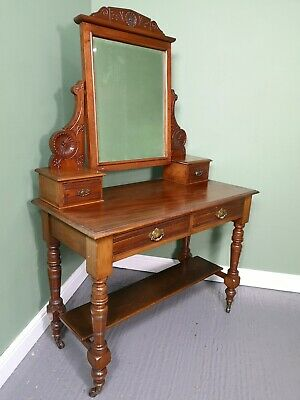 An Antique Victorian Solid Mahogany Dressing Table ~Delivery Available~