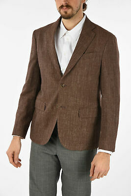 NINO DANIELI men Suit Jackets Sz 50 It Brown Unlined Blazer Single Breasted  ...
