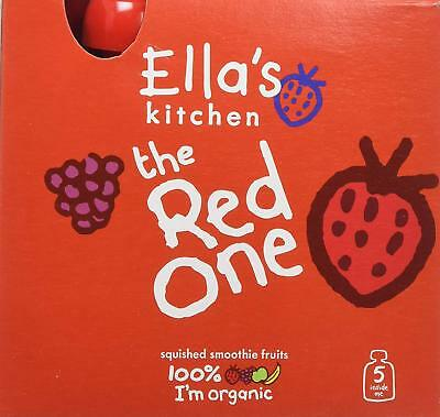 Ella's Kitchen Smoothie Fruit - The Red One Multipack (5x90g) (Pack of 6)