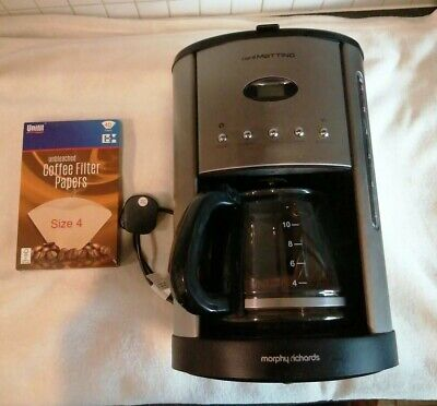 Morphy Richards 47070 Cafe Mattino Filter Coffee Maker 12 Cup with Filters.