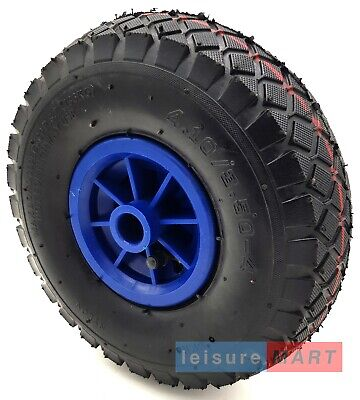 Replacement Spare Wheel and Tyre for a 48mm Pneumatic Jockey Wheel - Blue Center