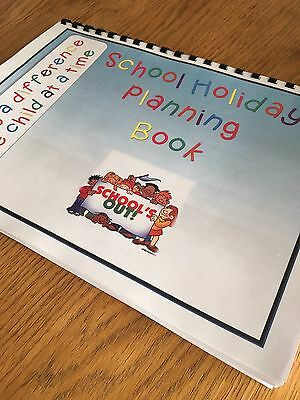 Childminder, Childminding, EYFS - School Holidays Planning Book