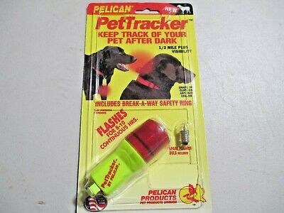 Pelican Pet Tracker submersible high visibility dog collar attachment no battery