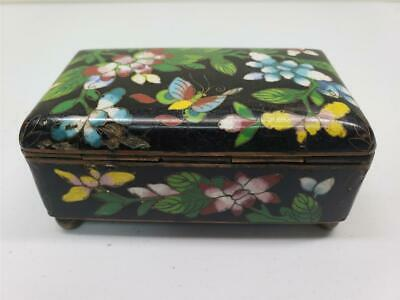 19th CENT FINE CHINESE CLOISONNE ENAMEL BOX