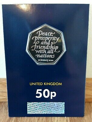 2020 UK BREXIT 50P Coin..  UNCIRCULATED COIN..
