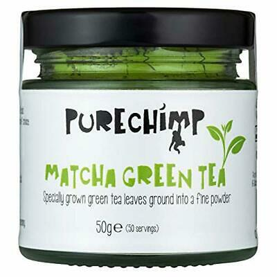 Matcha Green Tea Powder (Super Tea) 50g by PureChimp | Ceremonial Grade from Jap