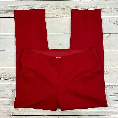 Chicos Juliet Straight Ponte Knit Pants Size 3 Women XL 16 Red 570210805 Pull On
