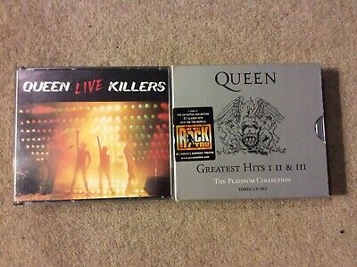 Rare Queen Live Killers Fatbox 2 CD & Platinum Collection 3 CD Fatbox In Sleeve