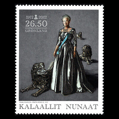 Greenland 2012 - 40th Anniv of the Coronation of Queen Margrethe II - Sc 607 MNH