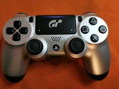 Sony Official PS4 Wireless Controller - V2 - silver/Black, G.T. Limited Addition
