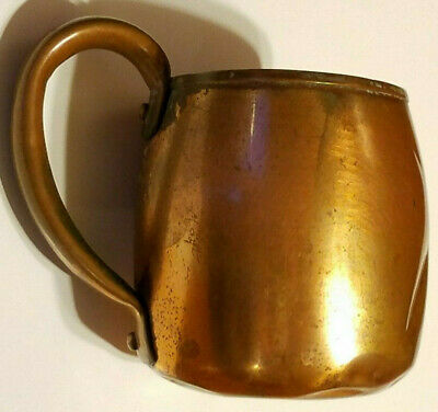 Vintage SOLID COPPER West Bend Aluminum Co CUP / MUG with HANDLE