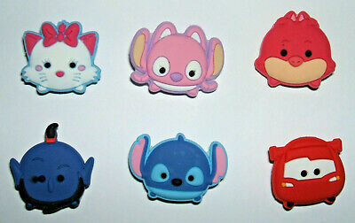 SHOE CHARMS (T8) - CUTE CARTOON CHARACTERS (6D) - Pack of 6