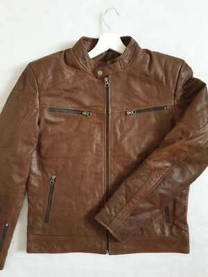 /'EXPLORER/' Men/'s Vintage Brown Safari Style Genuine Hide Leather Jacket Coat3038