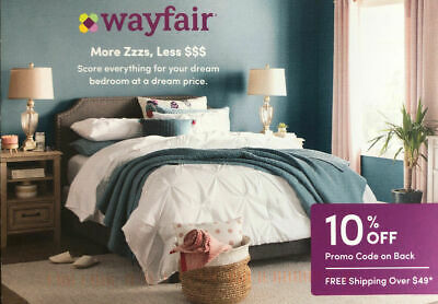 10% OFF Wayfair.com ~ Valid on First Order ~ Exp 03/31/2020 ~ $49+ Ships Free