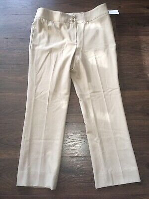 Armani Collezioni Brown Wool Dress Pants, Size 10 (US) 44 (IT), NWT! $575