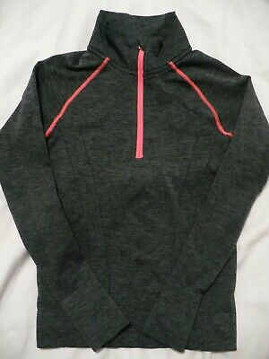 IVIVVA by Lululemon Girls Gray Pullover Athletic Long Sleeve Top - SZ 8
