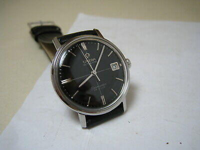 Omega Seamaster De Ville Automatic Date Black Dial Stainless Steel 1967 Watch