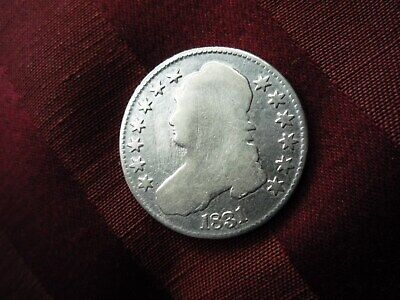 1831 -  Capped Bust Lettered Edge Half Dollar - Nice Toning ++++!