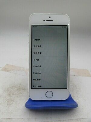 Apple iPhone 5s 16GB Silver A1533 (Unlocked) GSM World Phone vg909