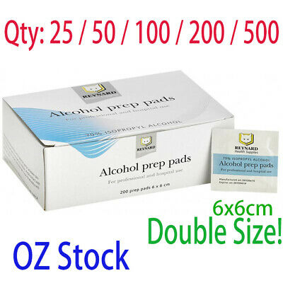 Alcohol Swabs/Sterile Wipes Pads 25 50 100 200 500 Medical Isopropyl Cleaning