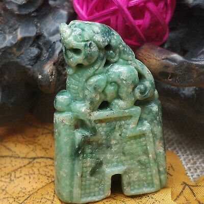 AAAAA Chinese Hand-carved aristocratic wearing Jadeite jade pendant Jade Unicorn