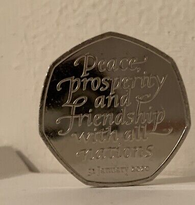 2020 Brexit 50p Coin Uncirculated From A Sealed Bag