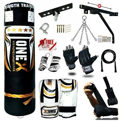 3-4-5 FT Punch Bag Heavy Duty Filled MMA Martial Arts Set Kick Boxing Gift