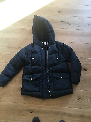 ZARA KIDS girls navy blue padded jacket coat AGE 11 - 12 YEARS EXCELLENT COND