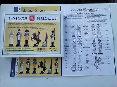 Prince August Battle Of Waterloo Chess Set Moulds. 709 France