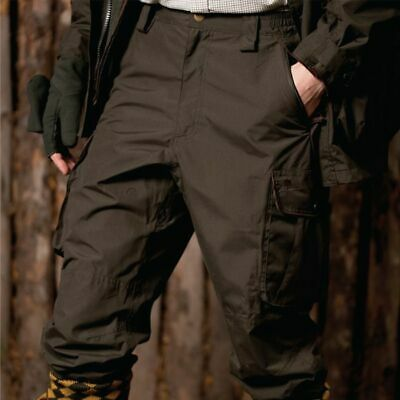 Elite Tough Trousers Cordura Cotton Water Resist Lined Hunting Shooting Beating