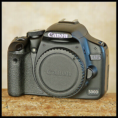 SUPER CLEAN Canon EOS 500D Digital SLR Camera + charger battery 2GB SDHC manual