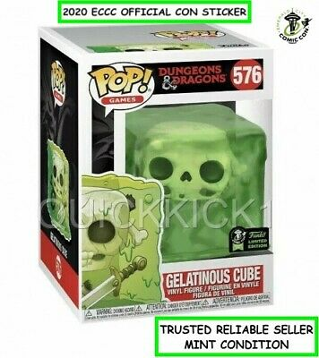 Gelatinous Cube Dungeons & Dragons Funko Pop 2020 Eccc Official Sticker! Mint!