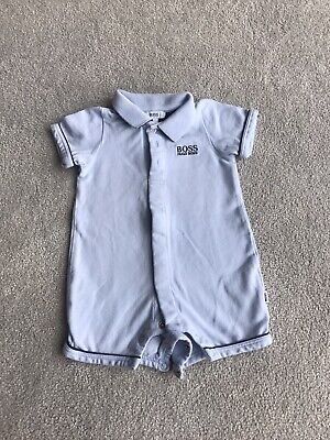 Hugo Boss Baby/'s J94222 771 Bodysuit Pale Blue Romper Playsuit