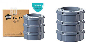 Tommee Tippee Twist and Click Advanced Nappy Disposal Sangenic Tec Pack of 3