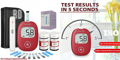 Sinocare Diabetes Testing Kit Blood Glucose Test with 50 Codefree Strips