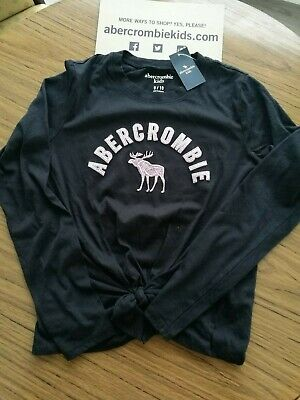 Abercrombie and Fitch Kids Black Long sleeve TShirt BNWT. 9/10 Years.