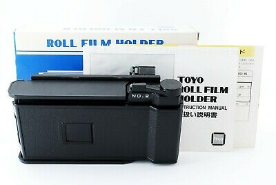 【Excellent 】TOYO Roll Film Holder 69/45 with Box from JAPAN - 4673